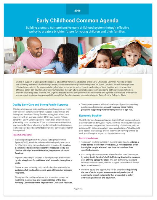 Early Childhood Common Agenda