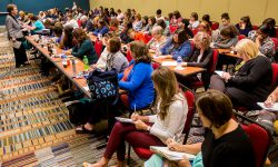 2017 Prevention Conference attendees take notes during session