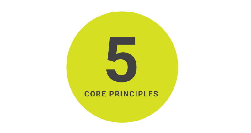 5 core principles Triple P graphic