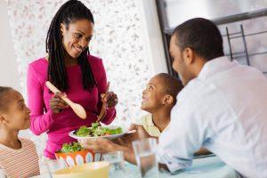 Family-serving-dinner