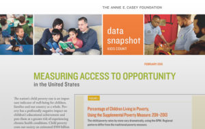 Annie E. Casey, Measuring Access policy brief cover