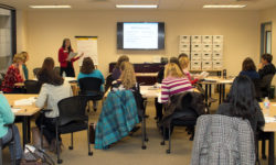 ACE Master Trainers engage in a session on adverse childhood experiences at the Children's Trust office.
