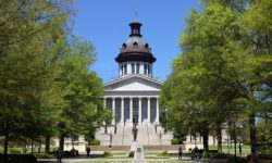 South Carolina state capital outdoors in the spring