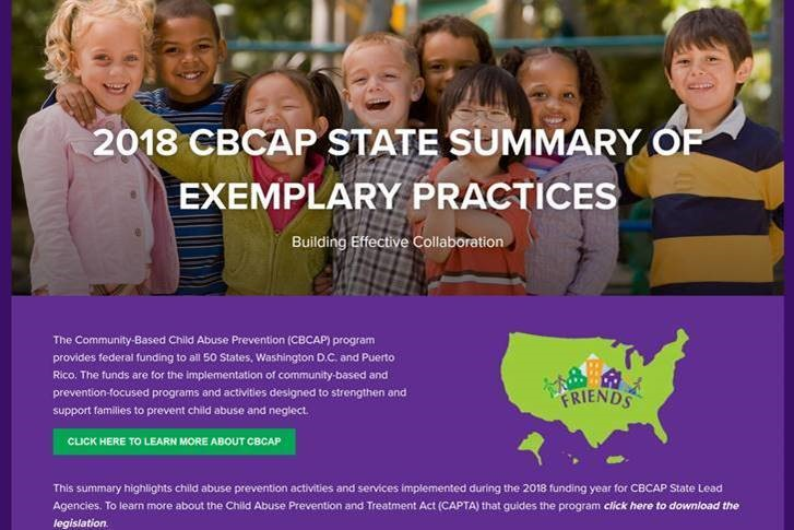 2018 CBCAP State Summary of Exemplary Practices