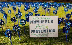 Kappa-Delta-USC-planted-pinwheels-and-sign-2018