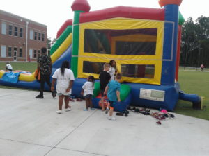 Lugoff Elementary bounce house