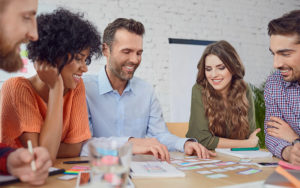 Man and Women in a workgroup meeting