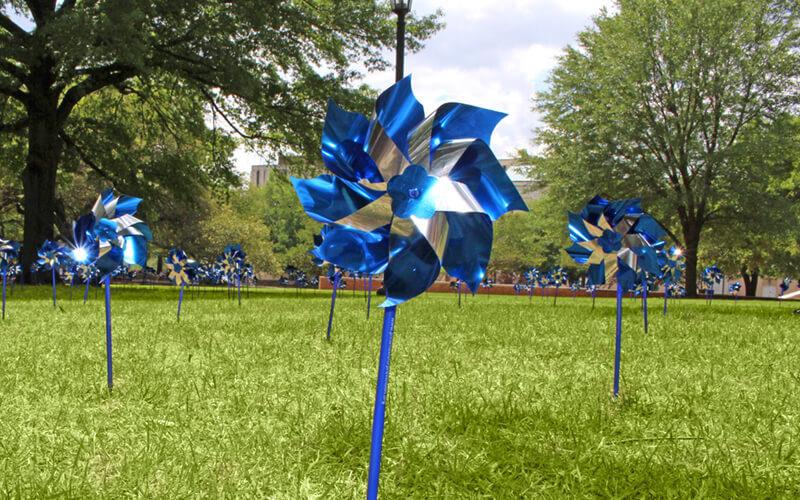 Pinwheels at USC centered low angle
