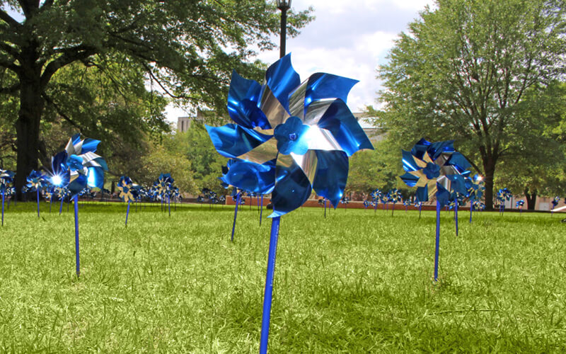 Pinwheels at USC centered low angle