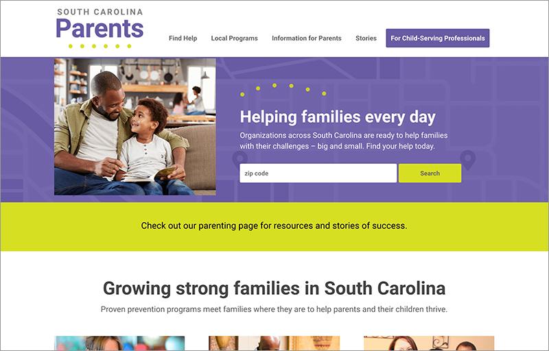 South Carolina Parents homepage