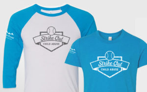 Strike Out Child Abuse T-Shirt mockups