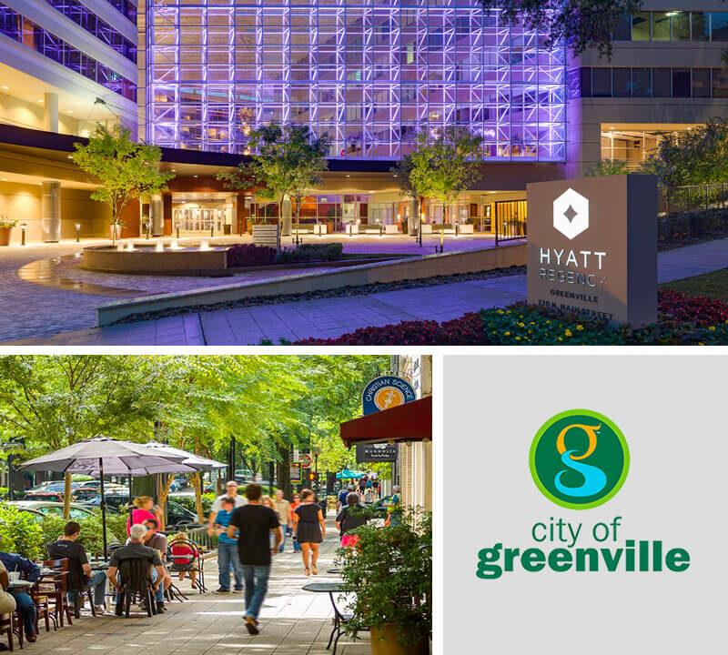 Downtown Greenville with Hyatt Regency