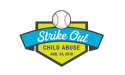 Strike Out Child Abuse 2018 label
