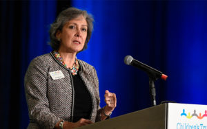 Sue Williams speaks at the 2019 Building Hope for Children Conference
