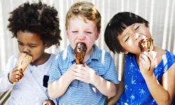 Children enjoying ice cream