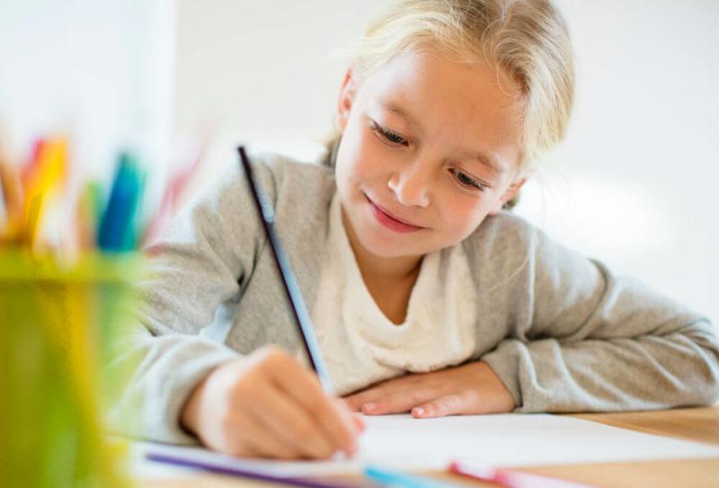 Young-girl-doing-homework